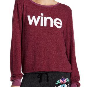 WILDFOX Burgundy Wine Pullover Size Small
